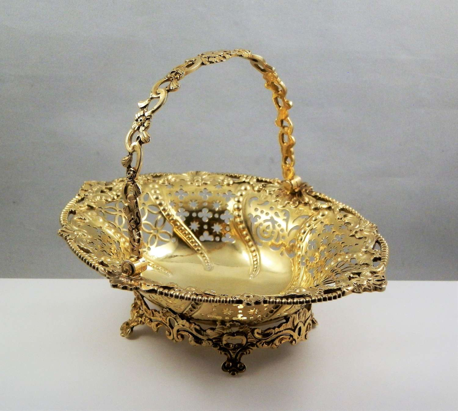 George III silver gilt basket, Edward Aldridge, London 1764