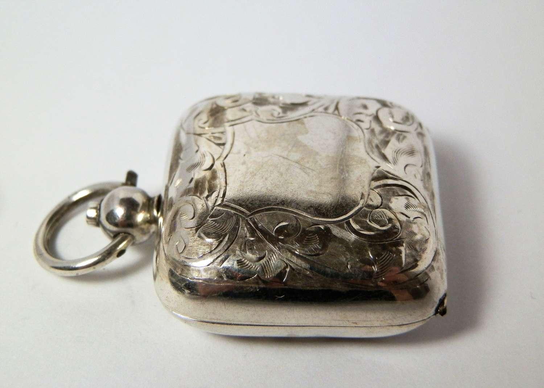 Edwardian silver sovereign case, Birmingham 1908