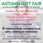 NEWBURY RDA AUTUMN GIFT FAIR - 27 Sept 2018 - 9h30 to 16h30