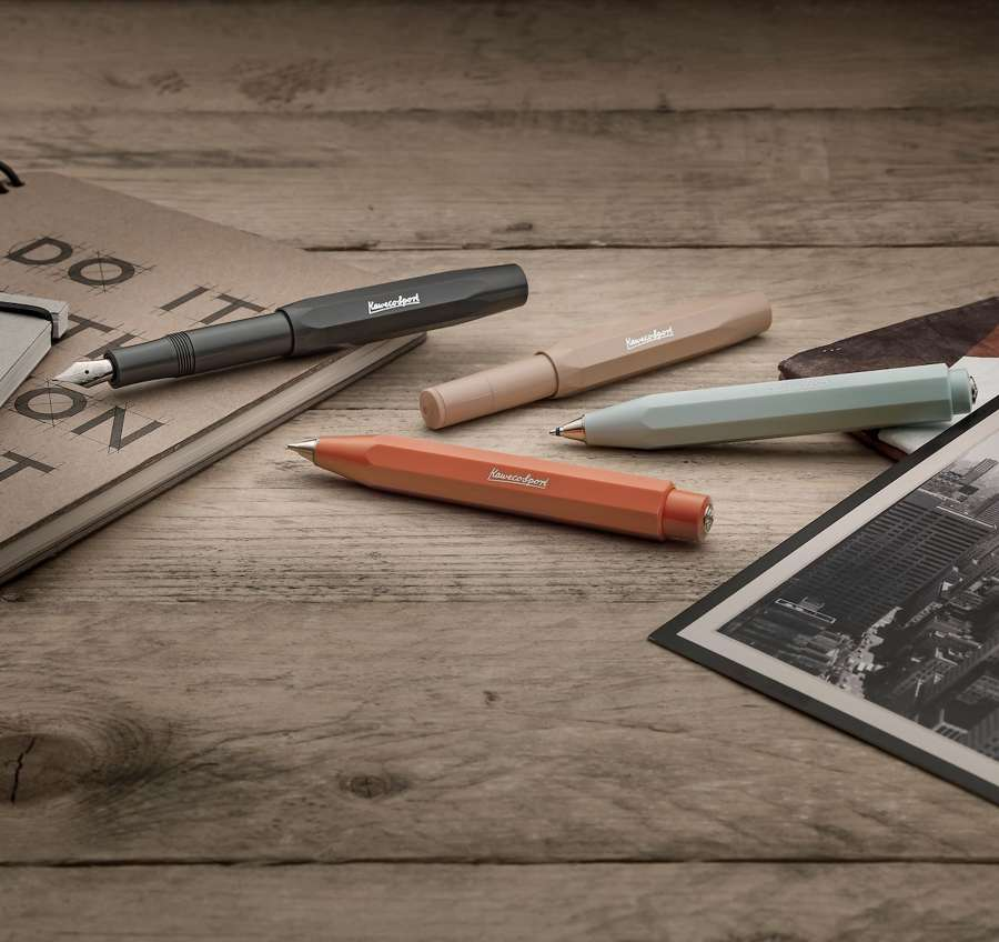 Kaweco Skyline Sport Pens & Pencils - Steel Nibs & Chrome Logos