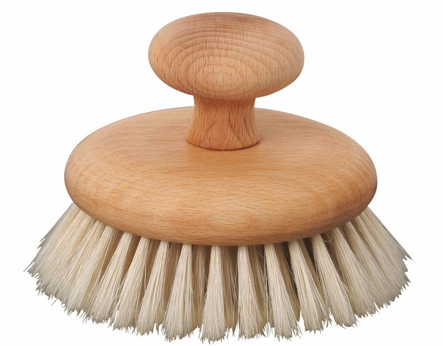 Massage Brush real bristle with knob