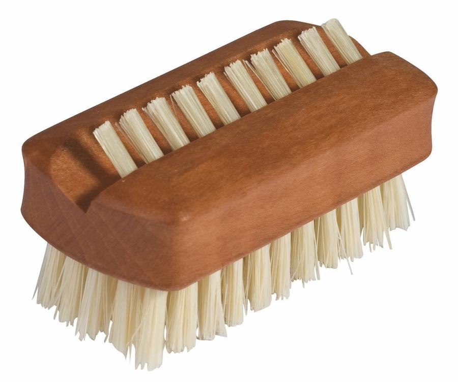 Pearwood Travel Nail Brush with upper row