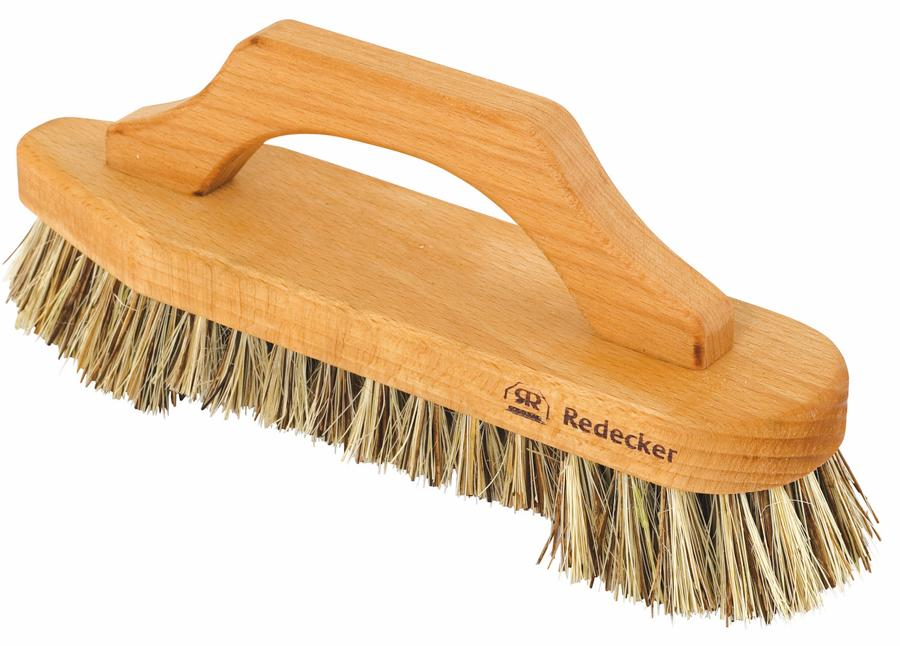 Scrub Brush with Bow - Shaped Handle, hard bristles