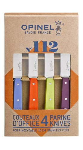 No.112 Plain Kitchen Paring Knives - Set of 4 - Pop Colours