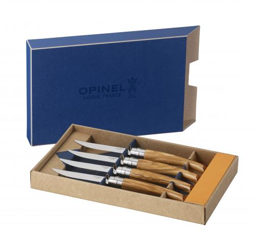 Set of 4 Table Knives - Olive