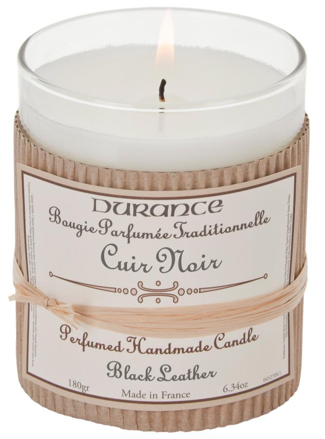 Scented Candle - Black Leather 180gr