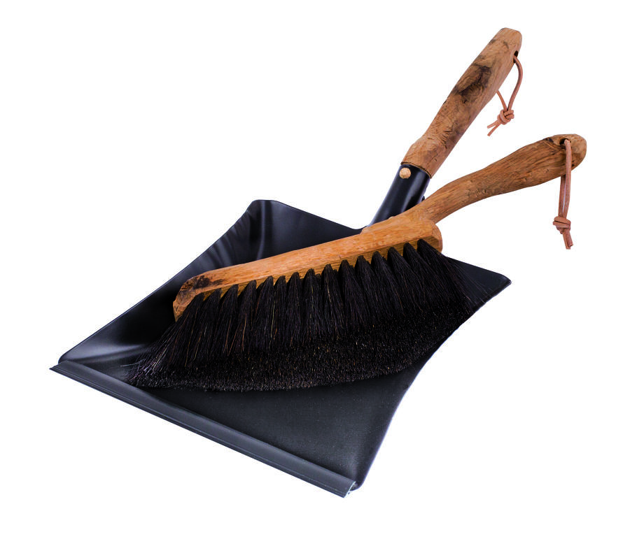 Dust Pan and Brush vintage set - Oak