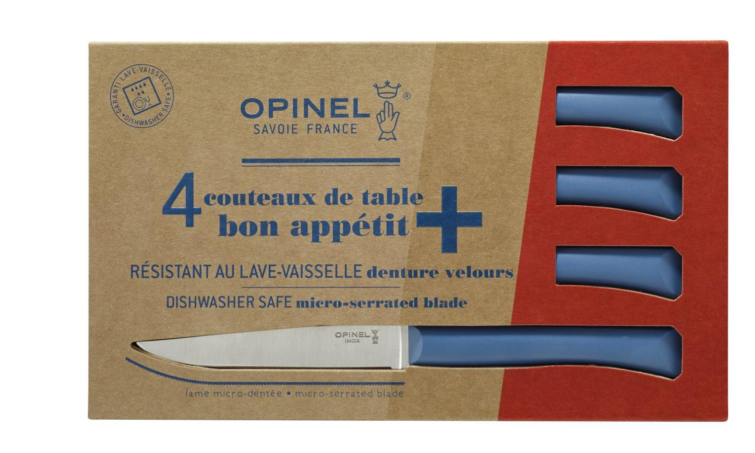 Bon Appétit - Serrated steak knives with polymer handles - Blue