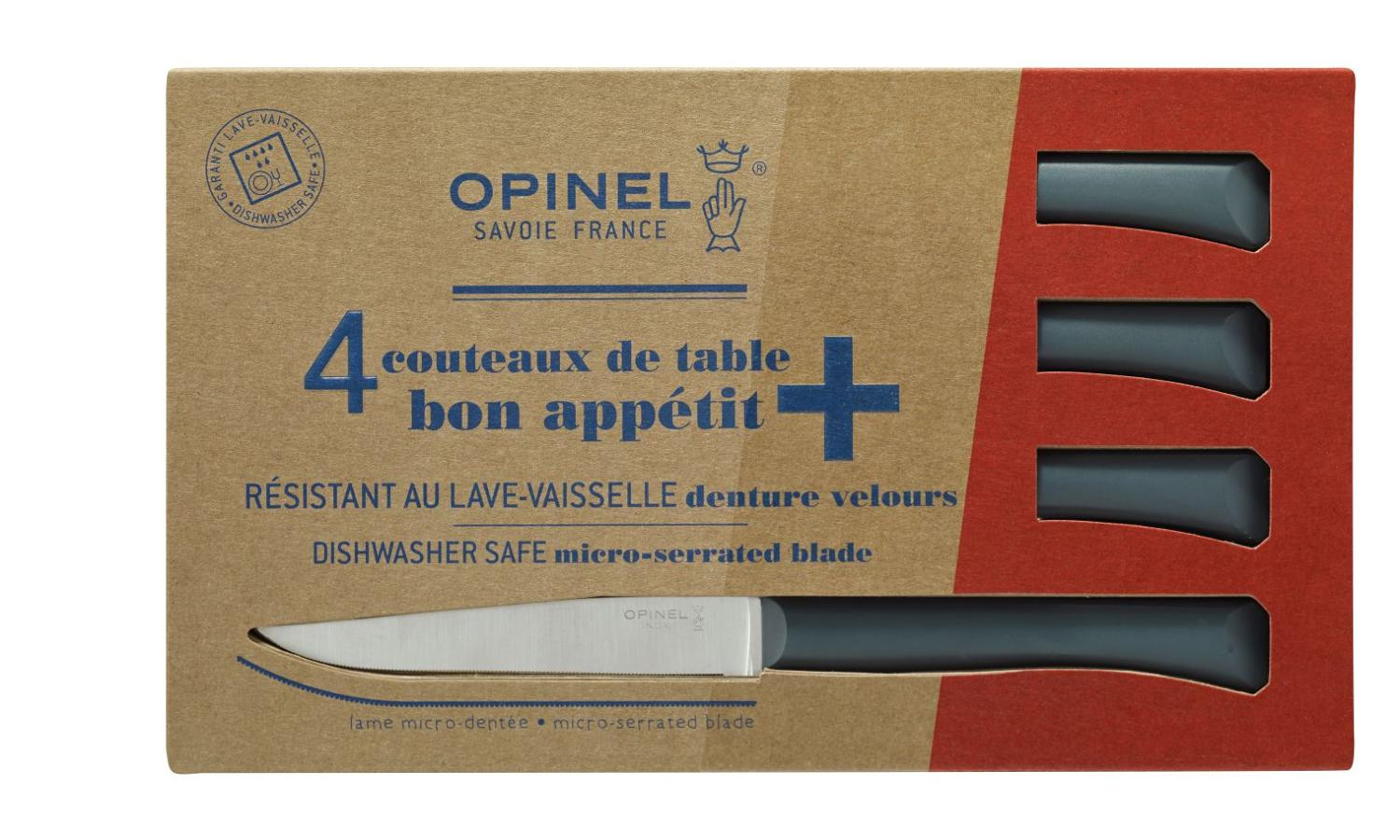 Bon Appétit - Serrated steak Knives with polymer handle - Anthracite