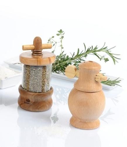 Berard Herb Mill in Olive wood with Herbes de Provence