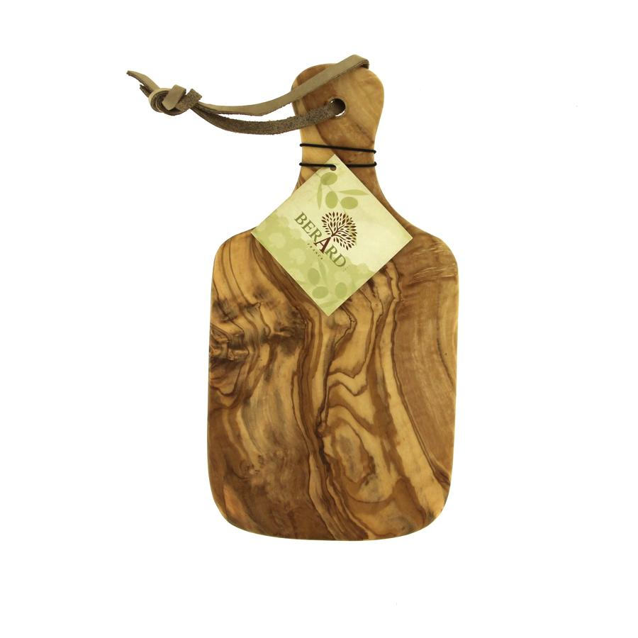 Chopping board in Olive wood with handle - Small