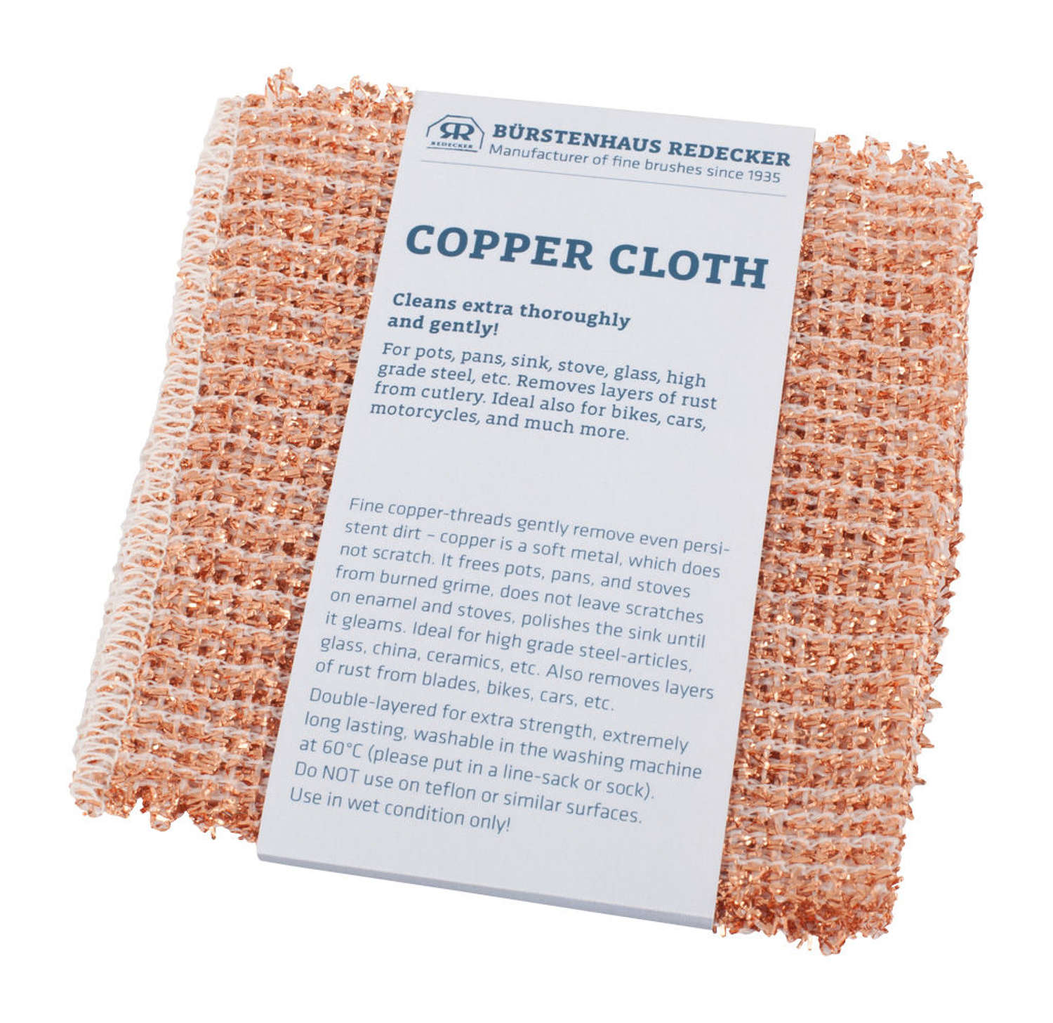 Copper Cloth - Pack of 2 - non scratch on metal & chrome