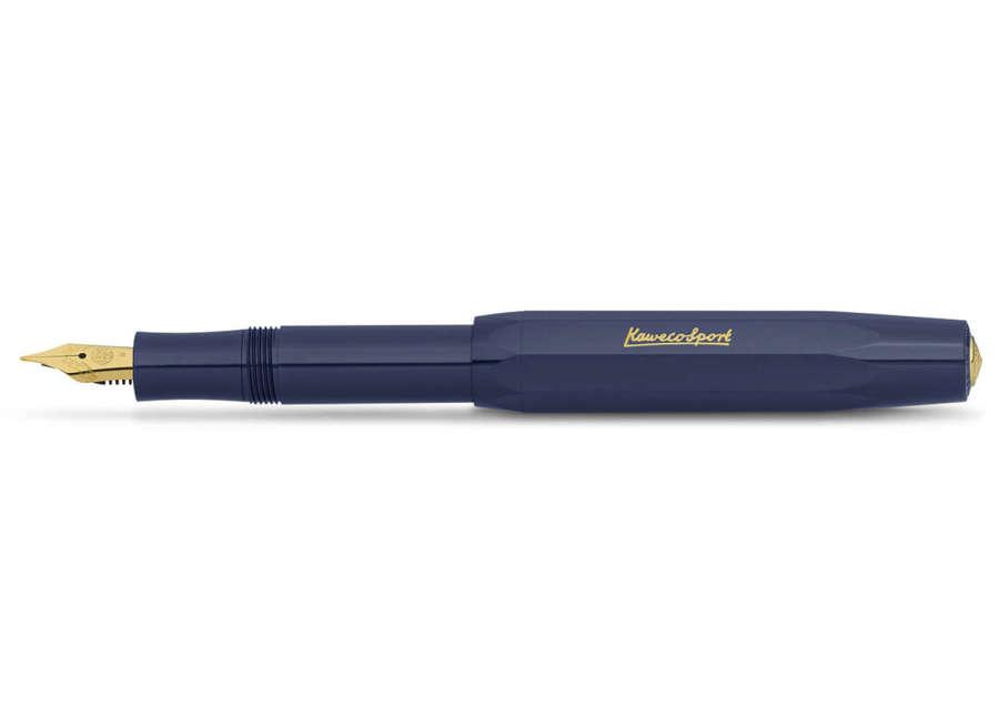 Kaweco Classic Sport Fountain Pen - Navy - Gold Medium Nib & Logo