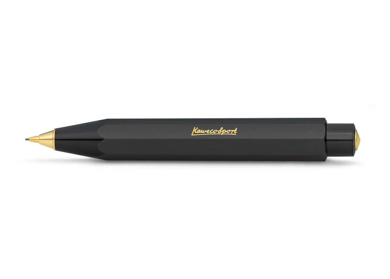 Kaweco Classic Sport Mechanical Push Pencil - Black - Fine 0.7mm Lead