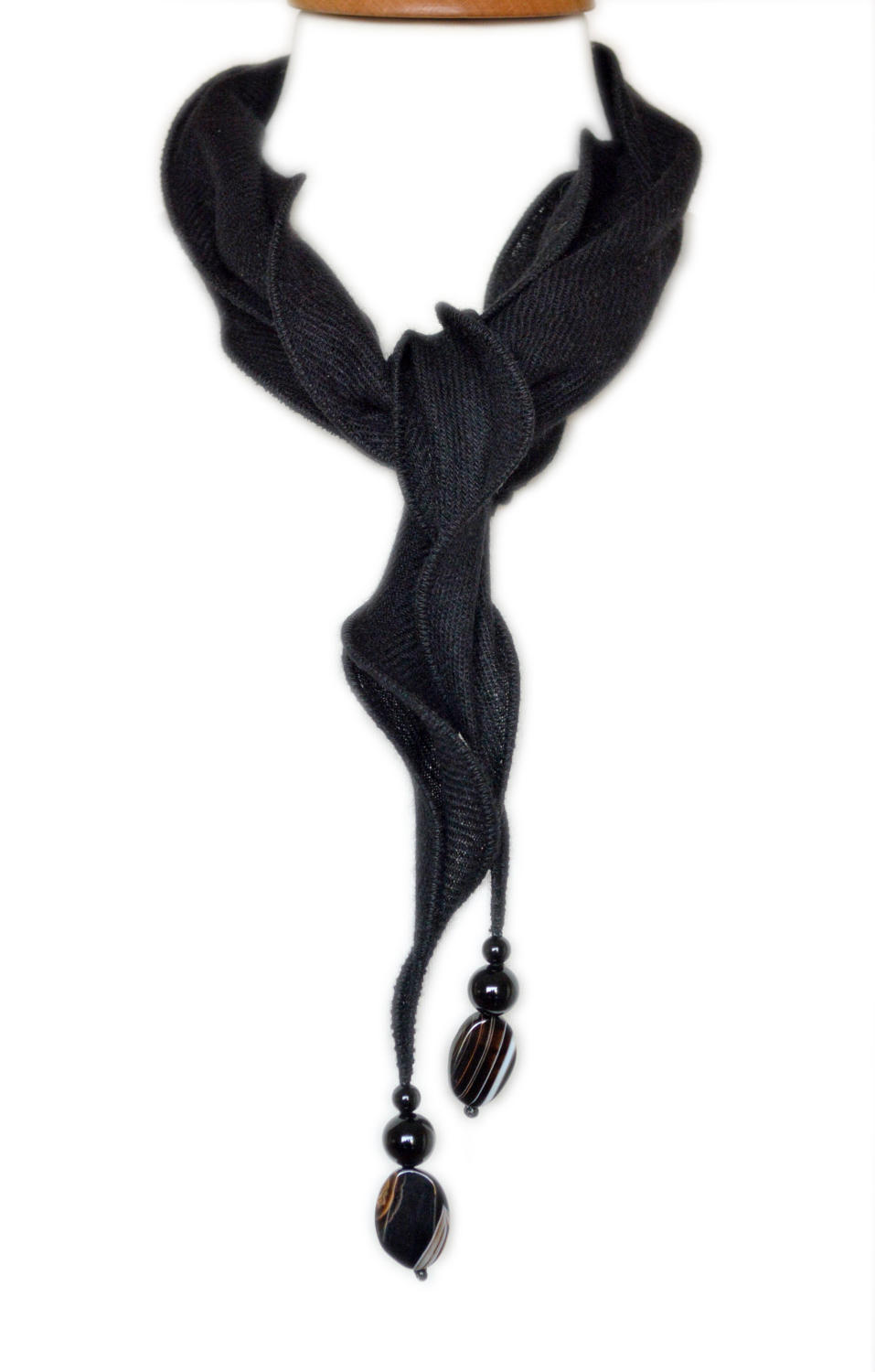Black Cashmere Necklace Scarf