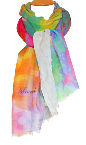 Ishvari Signature Scarf Grey/Multi