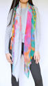 Ishvari Signature Scarf Grey/Multi - picture 3