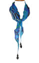 Blue Zebra Print Ishvari Necklace Scarf - picture 2