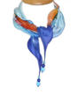 Ombre Crosshatch Silk Necklace Scarf - picture 1