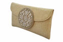 Gold Jute clutch with beaded motif - picture 4
