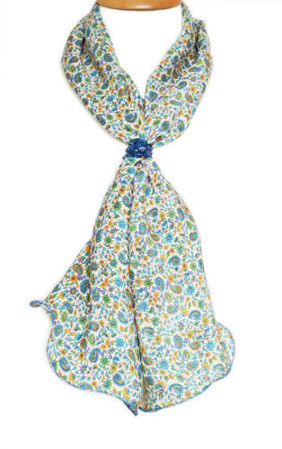 Ditsy Paisley Crepe Silk Scarf
