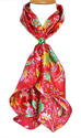Floral Satin Silk Scarf - picture 1