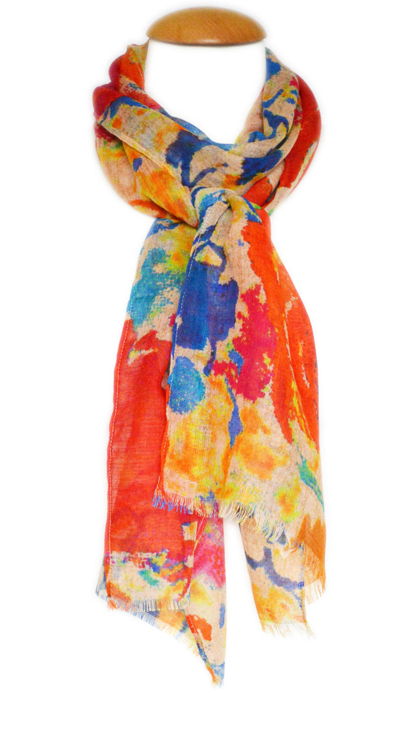 Digital Print Multi Abstract Scarf
