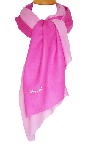 Pink Ombre Wool/Silk Scarf