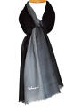 Black/Grey Ombre Wool/Silk Scarf - picture 1