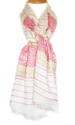 Pink & White Handloom Scarf - picture 1