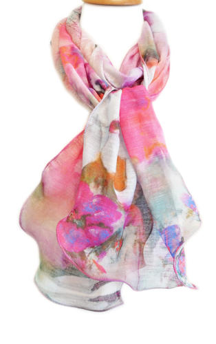 Grey/Multi Abstract Scarf