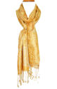 Golden Silk Jacquard Scarf - picture 1