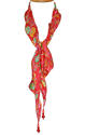 Red Floral Silk Necklace Scarf - picture 2
