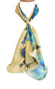Floral Abstract Satin Silk Scarf - picture 1