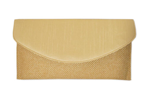 Gold Silk/Jute Clutch