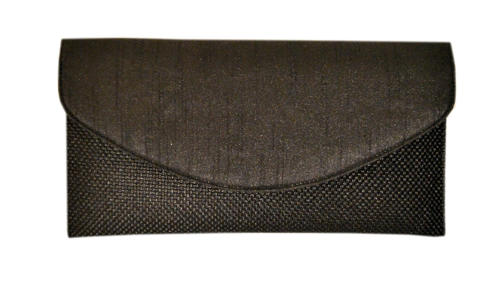 Black Silk/Jute Clutch