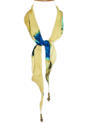 Abstract Floral Silk Necklace Scarf - picture 2