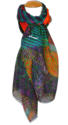 Abstract Digital Print Scarf - picture 1