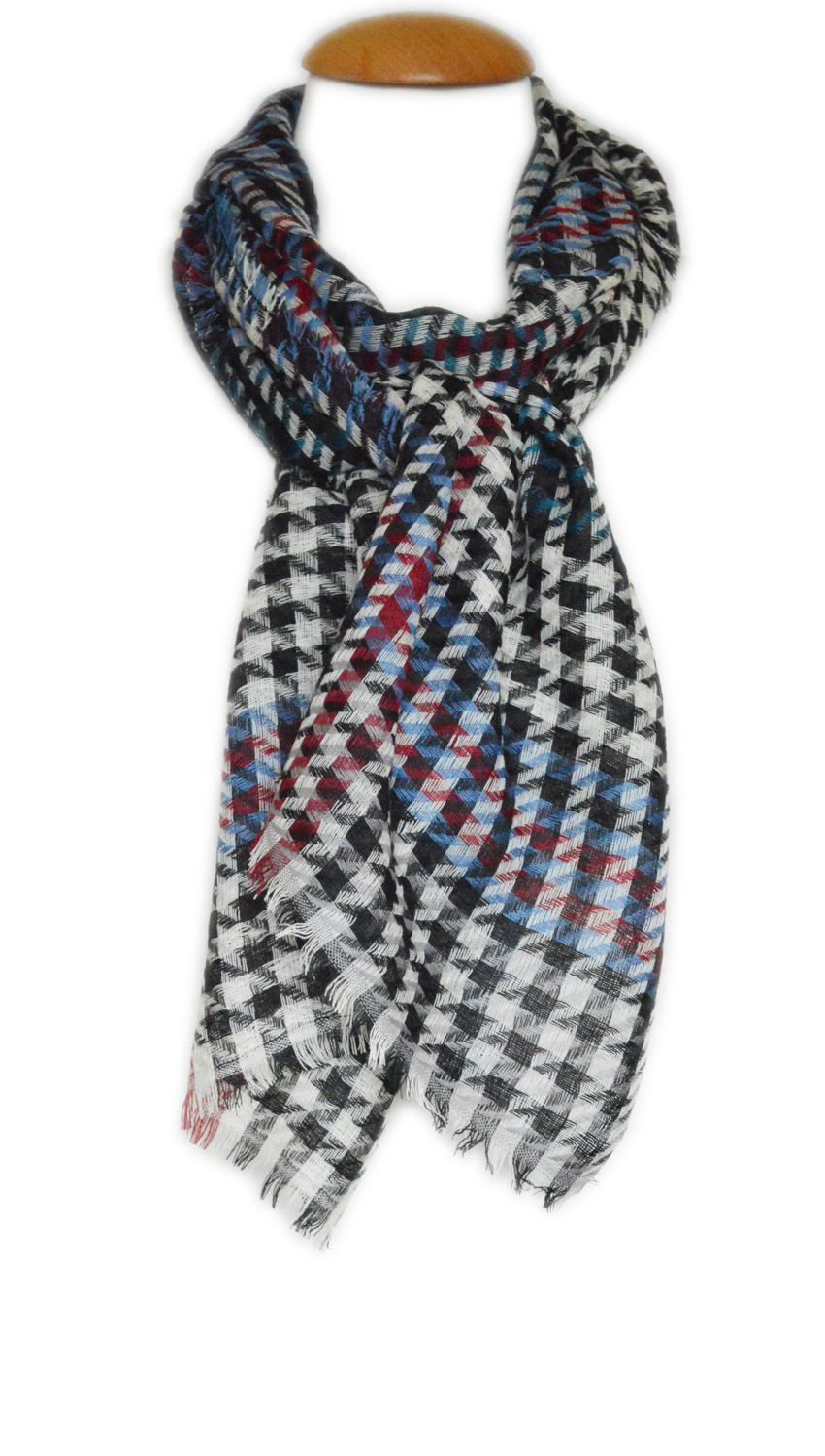 Multi Checked Wool Scarf
