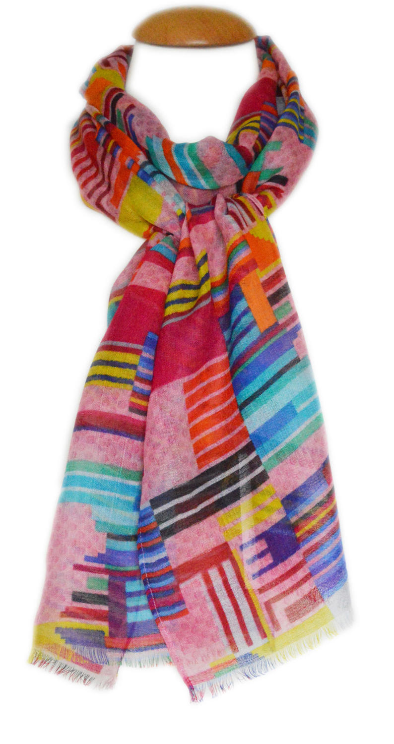 Digital Print Colour block Scarf