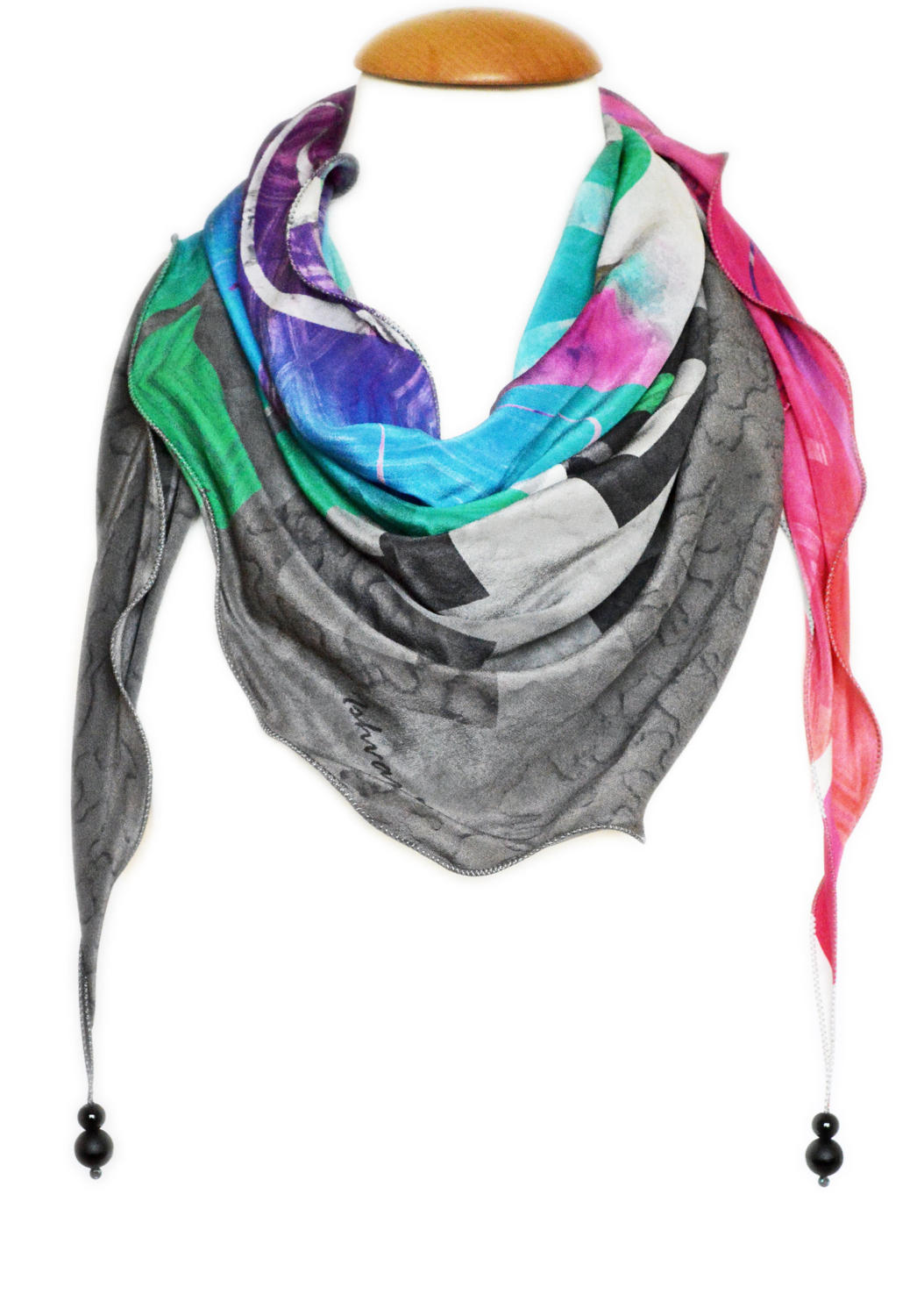 Dinah Silk Triangle Scarf
