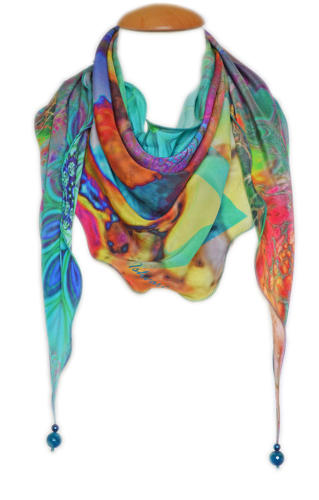 Riana Silk Triangle Scarf
