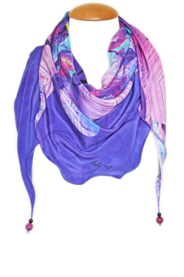 Aura Silk Triangle Scarf