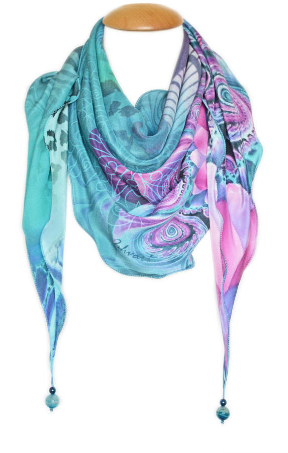 Amaya Silk Triangle Scarf