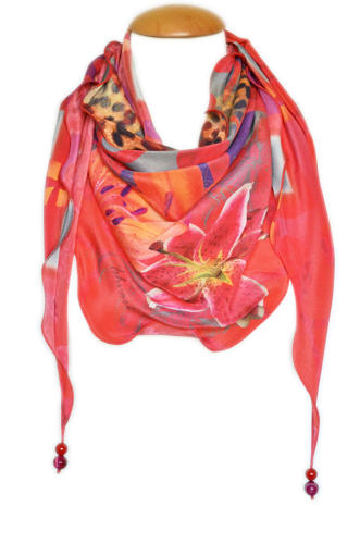 Lilliana Silk Triangle Scarf