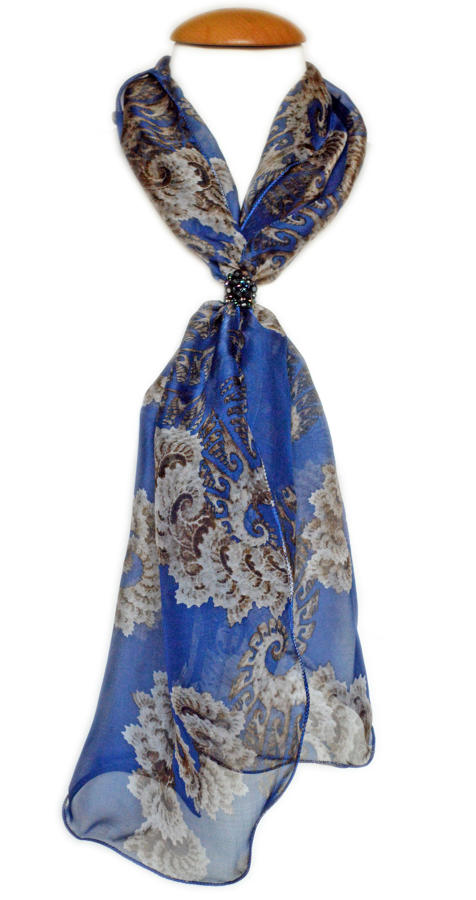 Midnight Blue Silk Scarf