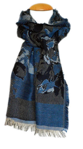 Midnight Double Weave Scarf