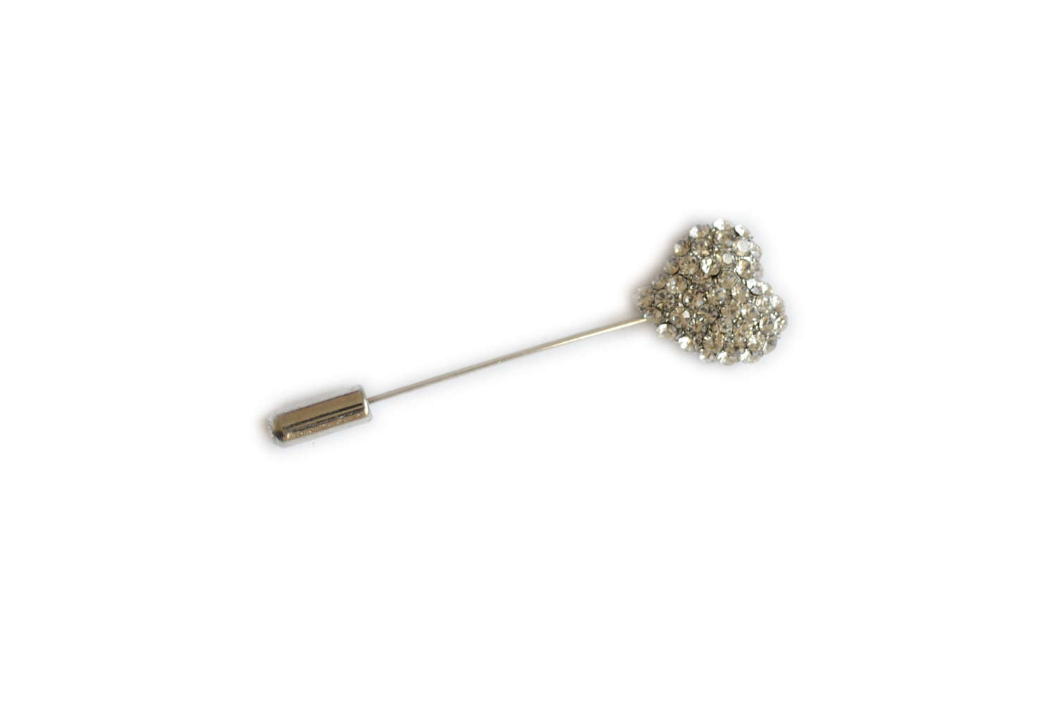 Diamante Heart Pin