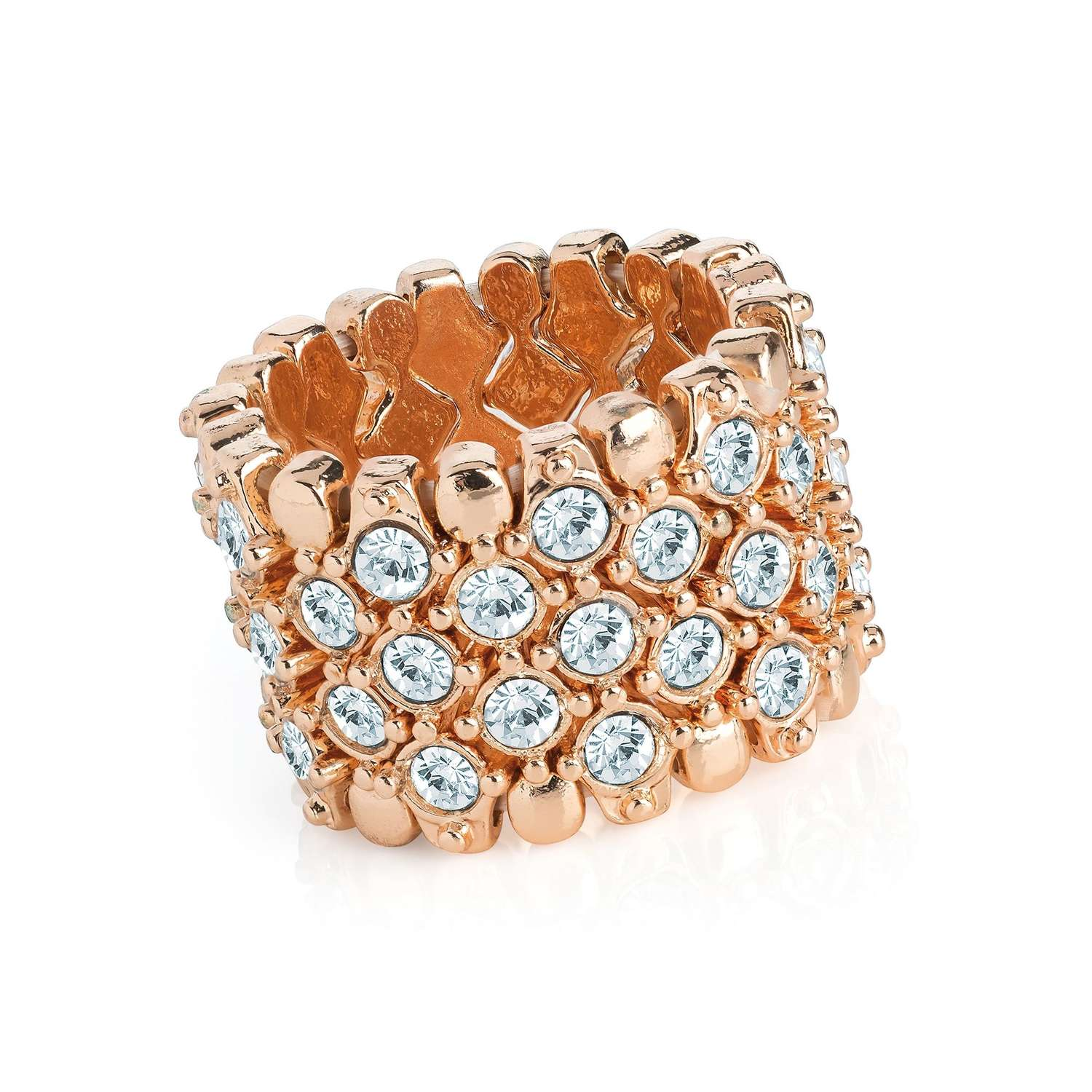 Rose gold colour elasticated scarf ring