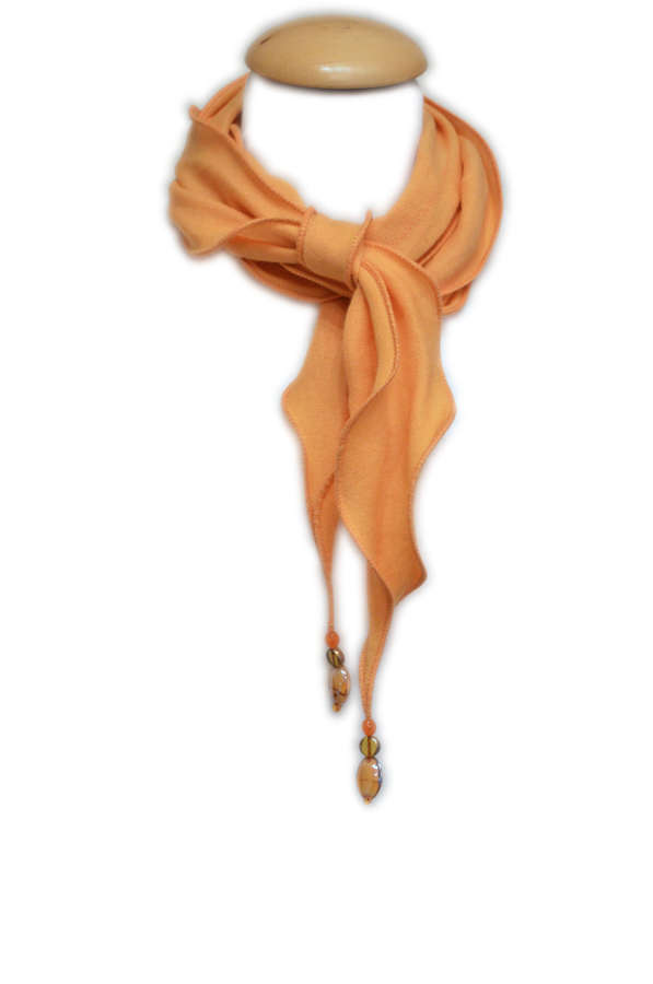 Mustard Cashmere/Silk Necklace Scarf